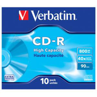CD-R VERB.700MB 74/80M SLIM CO